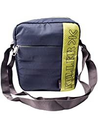 KILLER Polyester Dark Grey & Green Messenger Bag For Unisex