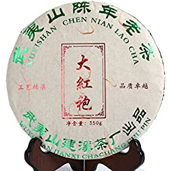 GOARTEA 350g (12.3 Oz) Supreme Aged Wu Yi Rock Da Hong Pao Big Red Robe Chinese Oolong Tea Cake Tee