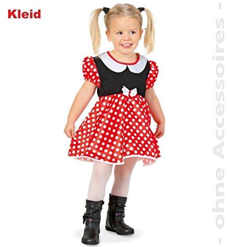 Daisy Kostüm Bee - narrenwelt Mäuslein Kleid 98 Maus Mäuschen Baby Kleinkind Kinder-Kostüm Fasching