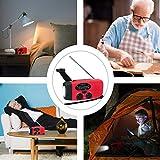 [2 Jahre Garantie] Solar Radio,AngLink AM/FM/NOAA Kurbelradio Wiederaufladbare Dynamo Radio Wasserdicht LED Dynamo Lampe Powerbank für Wandern,Camping,Ourdoor,Notfall(Rot)