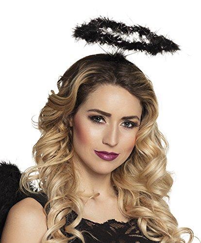 Heiligenschein Engel schwarz (Accessoires Engel Dunkler Kostüme Halloween)