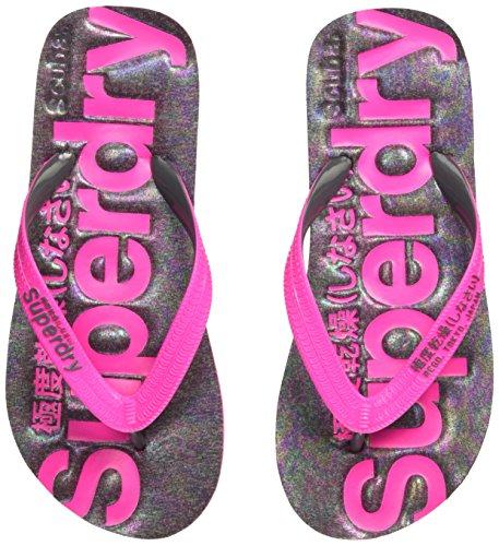 Superdry Damen Scuba Flip Flop Zehentrenner, Mehrfarbig (Iridescent Charcoal Marl NP6), 38/39 EU