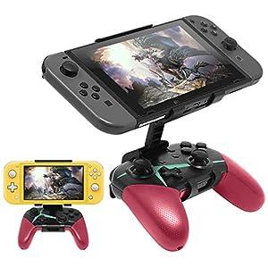 Kompatibel mit Nintendo Switch Pro Controller Mount Clip, faltbare Halterung Game Clip für Nintendo Switch / Nintendo Switch Lite