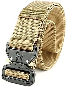 UxradG Cinturón táctico militar de nailon transpirable con hebilla de aleación de liberación rápida y hebilla...
