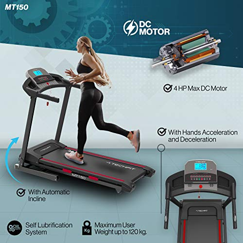 Zoom IMG-3 techfit mt150 tapis roulant professionale