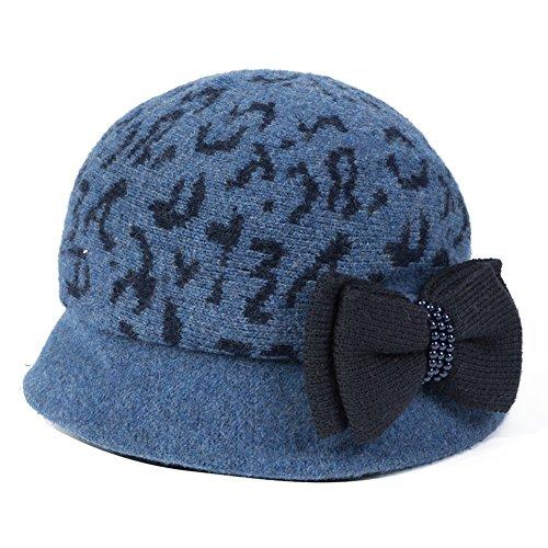Signora breve eaves cappello/In calda lana cappello/Archi
