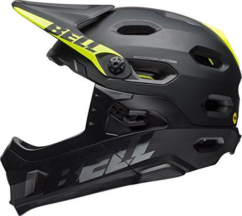 Bell Super DH Mips Fahrrad Helm schwarz/gelb 2018: Größe: M (55-59cm)