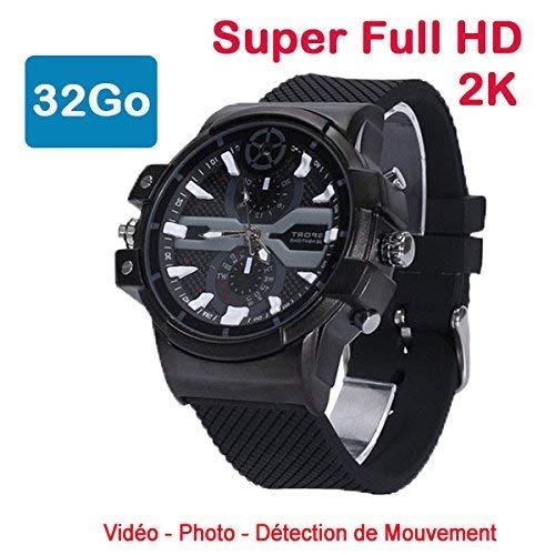 MATECam 2K Versteckt Kamera Mini Spionage Uhr Überwachungskamera DVR zeigt Video Registrierung Mini DV Camcorder (32GB) - Mini-video-versteckte Kamera