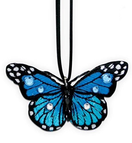 (Kette Schmetterling, sortierte Farben, Karneval, Accessiore (blau))