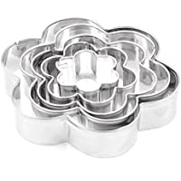 Cortador de galletas - SODIAL(R) 5 piezas ¨C Plata Pasteles / galletas