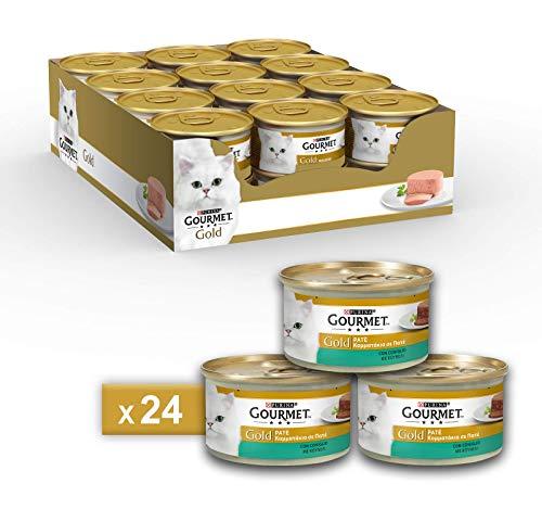 Purina Gourmet Gold Umido Gatto Patè con Coniglio, 24 Lattine da 85 g Ciascuna, Confezione da 24 x 85 g