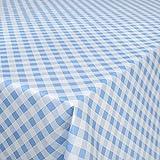Hule Mantel encerado cuadros, mesa mantel de hule lavable, toalla, azul, 200 x 140 cm