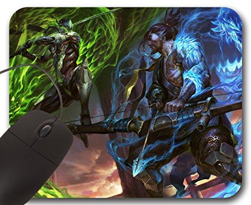 Mousepad-Overwatch-Genji-VS-Hanzo-Mauspad-Overwatch-Blizzard-OW