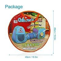 MAIKEHIGH Kinderspielhaus Zelt Tunnel 3 in 1 Pop-up Zelt Inklusive Haus + Baby-Tunnel + Kinder Ball Pool Schlauch Teepee Innen / Außen Leicht Folding BALL NICHT ENTHALTEN