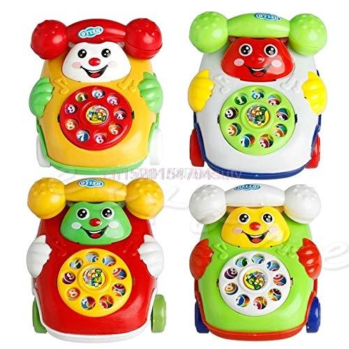BEESCLOVER 1 Stück Baby Spielzeug Musik Cartoon Telefon Pädagogische Entwicklungs Kinder Spielzeug Geschenk Neue # H055# EINWEG random color