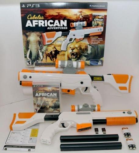 NEW 2-GUN BUNDLE Cabela's African Adventures PS3 Game w/Top Shot Elite Rifle Set (Top Ps3 Gun)