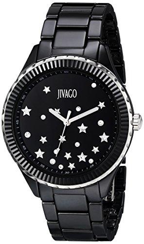 Jivago Women's JV2411 Sky Analog Display Swiss Quartz Black Watch
