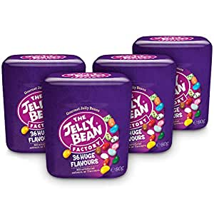 The Jelly Bean Factory 36 Gourmet Flavours 80 g Cup – 4er Pack | Gourmet Jelly Beans