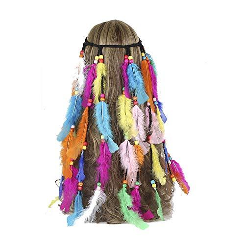 Böhmische Feder Stirnband Bunte Feder Kombination Haarband Haar Accouterment ()
