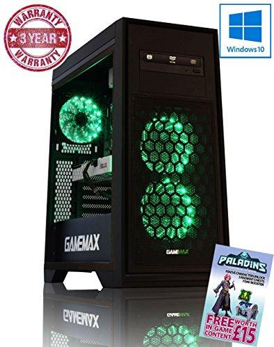 ADMI GTX 1050 #GameReady GAMING PC: AMD FX-6350 4.2GHz Six Core Processor / NVIDIA GeForce GTX 1050 2GB GDDR5 Graphics Card / 16GB 1600MHz DDR3 RAM / 1TB Hard Drive / 500W PSU Bronze Rated / HD Audio / USB 3.0 / HDMI/4K Ultra HD Support / Game Max Titan Green LED Gaming Case / DVDRW 24x / Pre-Installed with Windows 10