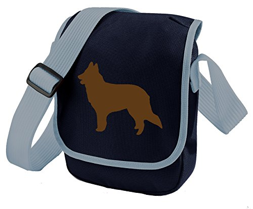 Bag Pixie - Borsa a tracolla Unisex �?Adulto Brown Dog Blue Bag