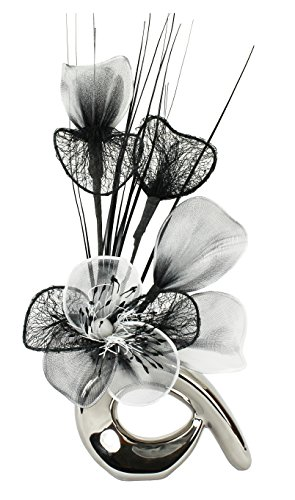 flourish-798543-qh1-silver-vase-with-black-and-white-nylon-artificial-flowers-in-vase-fake-flowers-o