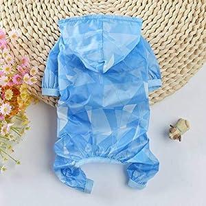 QIAO,la Compagnie pzssxdzw vêtements d'été, la Chaleur, la Dissipation de la Chaleur, la Mince Protection Solaire Combinaison, Chien XS-XL à Capuchon (Rose et Bleu) Code