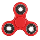 #5: Aeoss New Tri-Spinner Shakes Toy Plastic EDC Sensory Fidget Spinner For Autism And Children With ADHD / Adult Funny Anti Stress Toys (RED)