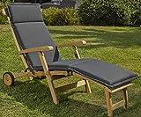 Destiny Premium Auflage für Deckchair Anthrazit Deckchairauflage Polster Kissen by abziehbar & waschbar 300718