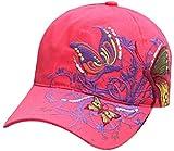 Belsen Mädchen Schmetterlings-Stickerei- Vintage Baseball Cap Snapback Trucker Hat (Rote)