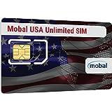 EEUU ilimitado tarjeta SIM de Mobal. Ilimitado de datos y SMS. Un mes, solamente 38 €