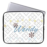 Custom Grey Geometry Computer Sleeve for Macbook Air 10 Inch Snowflake Pattern Laptop Sleeve Computer Case Netbook Envelope Cover Sleeve for HP Tablet Acer Laptop Case