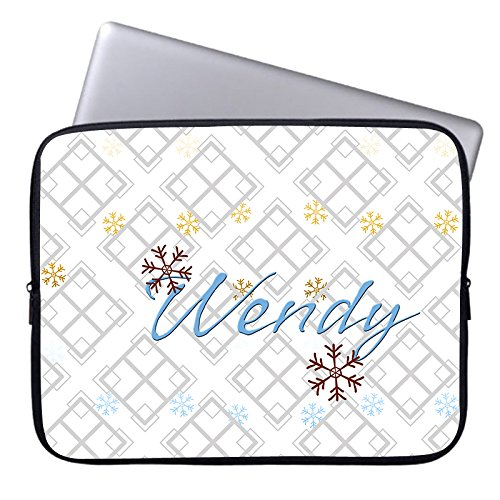 Custom Grey Geometry Computer Sleeve for Macbook Air 10 Inch Snowflake Pattern Laptop Sleeve Computer Case Netbook Envelope Cover Sleeve for HP Tablet Acer Laptop Case (10 In Tablet-cover Den Hp)