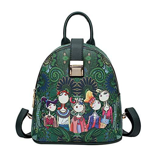 size 40 1fbb3 e57cf KERULA rucksack Damen Herren Studenten Backpack Laptop für  Multifunktionsrucksack Camping Frauen-WaldmäDchen-Muster-Rucksack-Sutdent-Schulter-Schultasche  ...