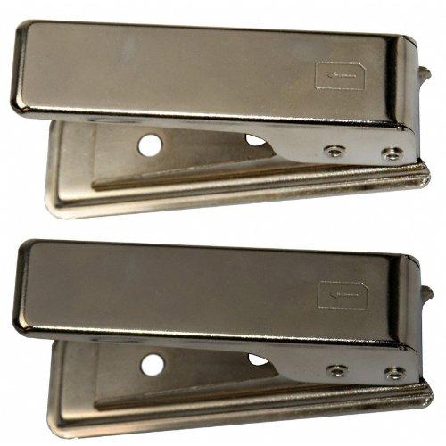 ten Cutter Schneider Locher geeignet für iPhone 4 4S 5 Samsung und viele weitere Smartphones (Micro-SIM-Kartenschneider + Nano-SIM-Kartenschneider) ()