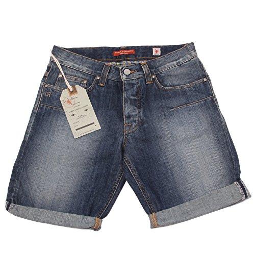 37183 bermuda DANIELE ALESSANDRINI DENIM jeans pantaloni uomo shorts men [30]