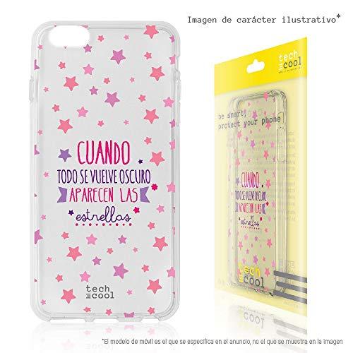 Funnytech® Coque pour Iphone 5 / 5S / Se l Housse TPU Silicone [Design Exclusif, Impression Haute Définition] [Couleurs Très Vives] [todo Se vuelve Oscuro transp Rosa]