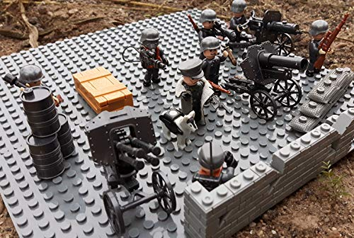 Modbrix 17002 ✠ Wehrmacht Artillerie Schützengraben inkl. 8 custom Minifiguren über 300 Teile ✠ - 2