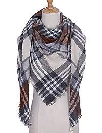 51c16e0b929f KINMB Echarpes Foulards scarfÉcharpe Chaude Automne et Hiver Triangle  écharpe à Carreaux châle