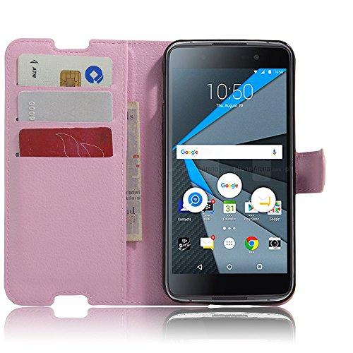 Tasche für BlackBerry DTEK50 Hülle, Ycloud PU Ledertasche Flip Cover Wallet Case Handyhülle mit Stand Function Credit Card Slots Bookstyle Purse Design rosa