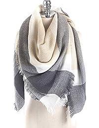 576917d1530d Aostar XXL Écharpe Femme, écharpe châle foulard étole pashmina en Cachemire  Chaud Automne Hiver Grand Plaid Tissu Glands Foulard…