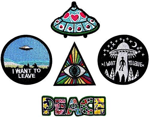 i-Patch - Patches - 0143 - Sticker - Badges - Astronaut - Stickerei - Applikation - Aufnäher - Planet - Raumschiff - Raumfahrt - Aufbügler - Flicken - zum aufbügeln - Space - Alien - Rakete - Astro