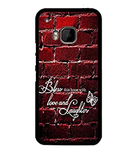 Fuson Designer Back Case Cover for HTC One M9 :: HTC One M9S :: HTC M9 (love and laughter wall bricks butterfly)