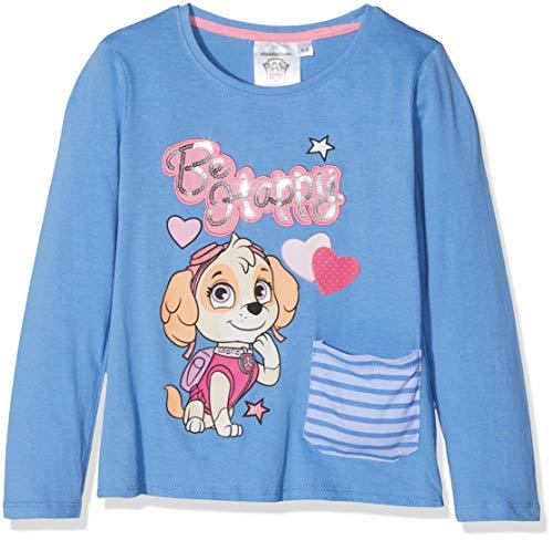 Nickelodeon paw patrol be happy t-shirt bambina, (blue 17-4037tc), 4 anni