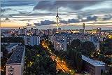 Posterlounge Acrylglasbild 180 x 120 cm: Berlin bei Nacht von WildlifePhotography - Wandbild, Acryl Glasbild, Druck auf Acryl Glas Bild