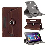 Universal Tablet Schutz Tasche Hülle Acer Iconia One 10 B3-A20 Case Cover NAUCI, Farben:Braun