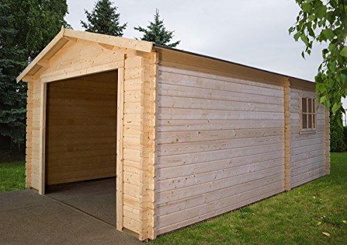 Garage 3454 - box auto in legno da giardino abete naturale gartenpro