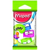 Maped Triple Pack of 1 Hole Boogy Pencil Sharpener in Assorted Colours (Single Pack) 063210