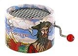 Boîte à musique à manivelle en carton renforcé - Pirates des Caraïbes - Thème de Davy Jones (Hans Zimmer)