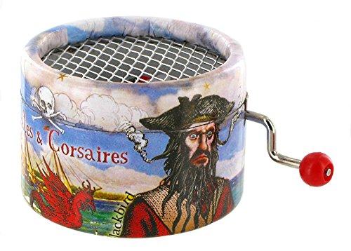 Spieluhr mit Kurbel aus verstärktem Karton–Fluch der Karibik–-Thema Davy Jones (Hans (Davy Jones Fluch Karibik Der)